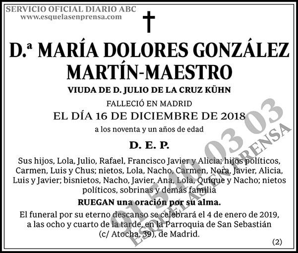 María Dolores González Martín-Maestro